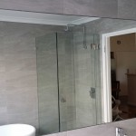 Bathroom Mirror Flat Polished Edges Glue Mount Perth - Glass100