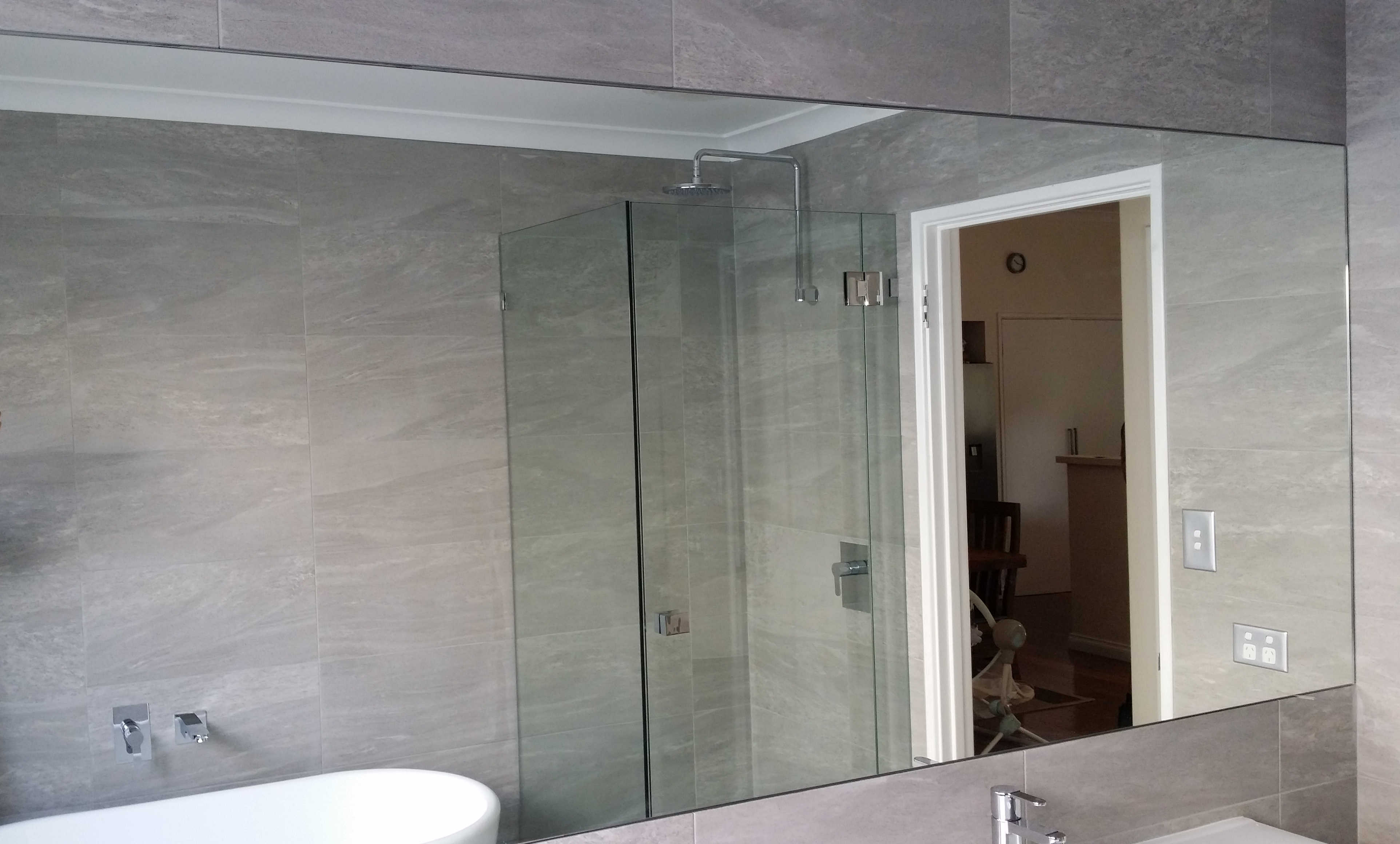 flat bathroom mirror bathroom bedroom amp hallway mirrors glass100 12847