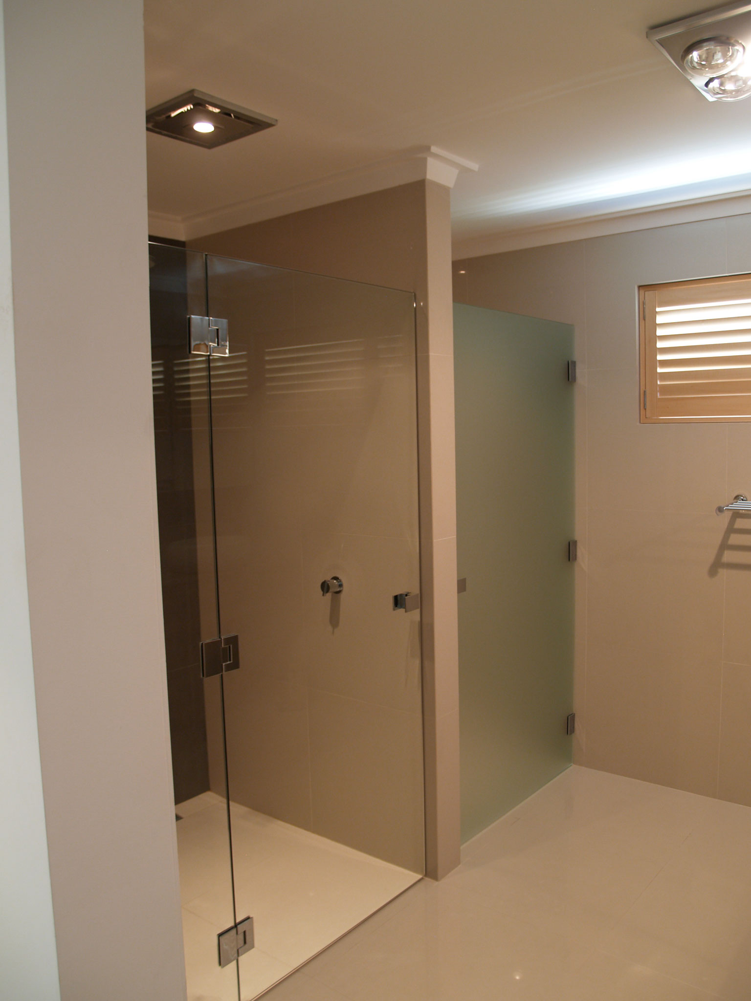Frosted Glass Bath Shower Screen