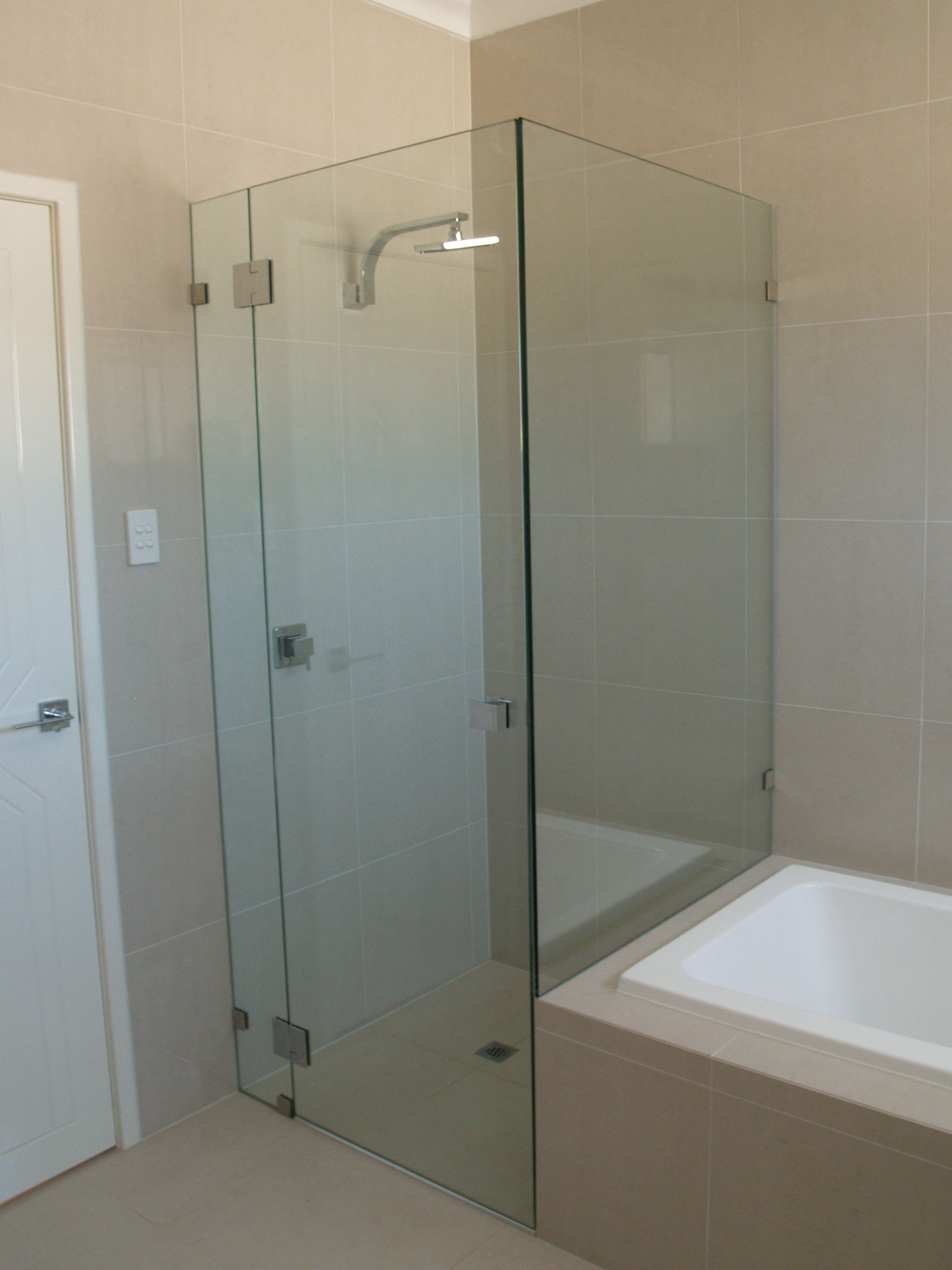 Bon Comfortable Frameless Shower Glass Panel Gallery